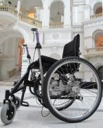 Pre-prototype of a lever-wheelchair